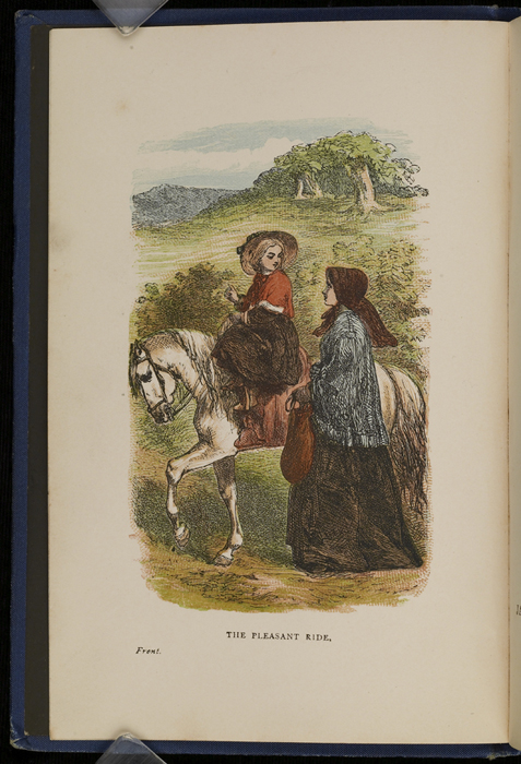 "Frontispiece to the 1886 James Nisbet & Co. ""New Edition, Golden Ladder Series"" Reprint Depicting Ellen Riding Sharp"