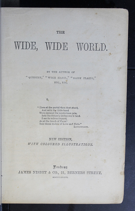 """Title Page to the 1886 James Nisbet & Co. """"New Edition"""" Reprint"""