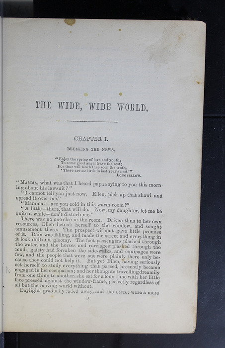 """First Page of Text in the 1886 James Nisbet & Co. """"New Edition"""" Reprint"""