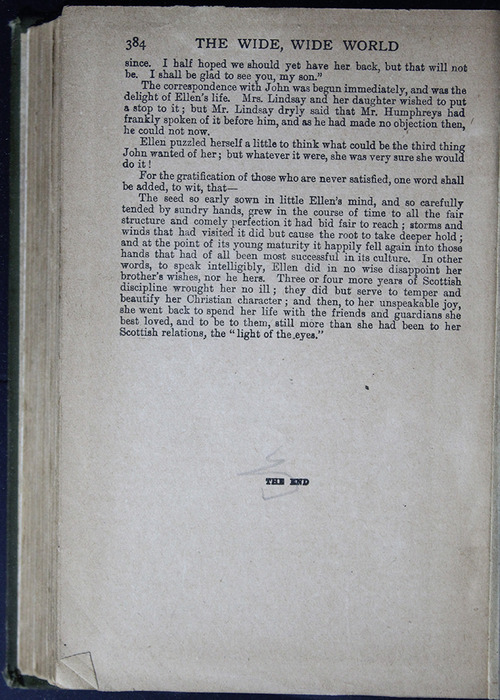 Last Page of Text in the [1883] John F Shaw & Co. Reprint