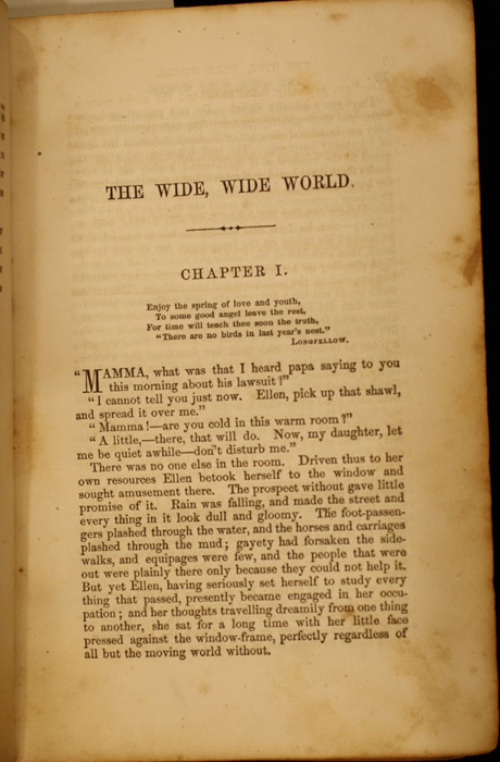 First Page of Text in Volume 1 of the 1852 George P. Putnam 16th Edition, Version 1
