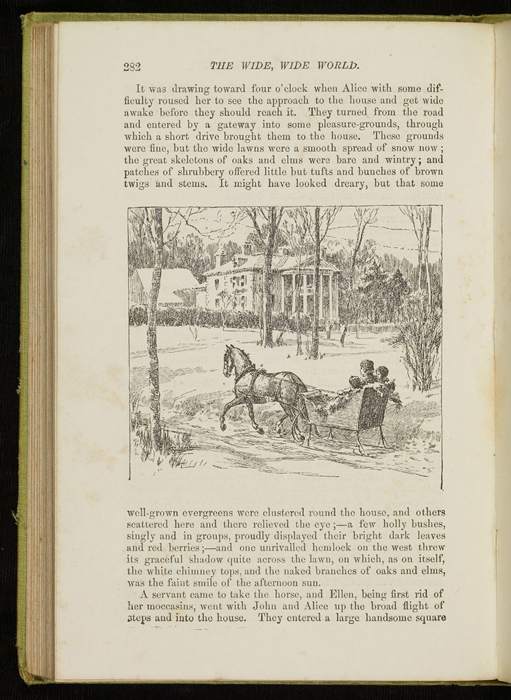 Illustration on Page 282 of the 1896 Hodder and Stoughton Reprint Depicting the Sleigh Ride to the Marshman's