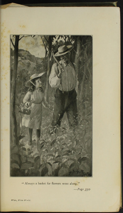 Illustration on Page 350a of the [1910] R.F. Fenno & Co.  Reprint, Depicting Ellen and Mr. Van Brunt in the Woods