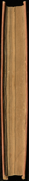 """Fore Edge of the [1899] George Routledge & Sons Ltd. """"Ruby Series"""" Reprint, Version 2"""