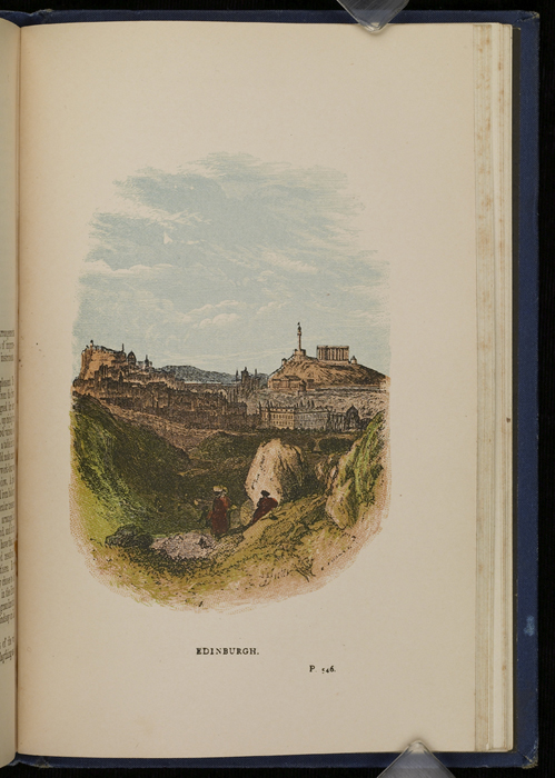 """Illustration on Page 546a of the 1886 James Nisbet & Co. """"New Edition, Golden Ladder Series"""" Reprint, Depicting Edinburgh"""