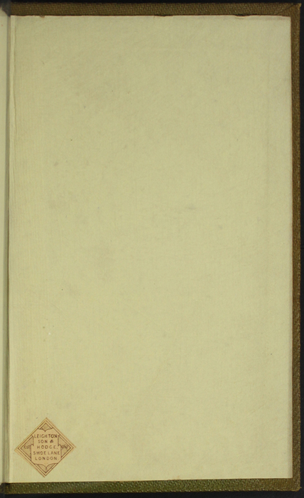 Back Pastedown of the 1853 G. Routledge and Co. Reprint