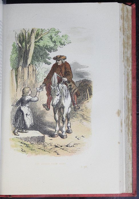 """Illustration on Page 352a of the 1879 James Nisbet & Co. """"Golden Ladder Series"""" Reprint Depicting the Letter from Home"""