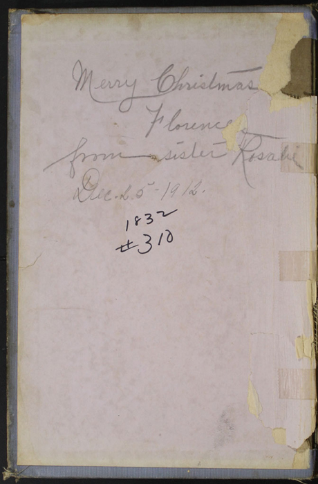 Front Pastedown with Inscription of the [1912] Hurst and Co. Reprint