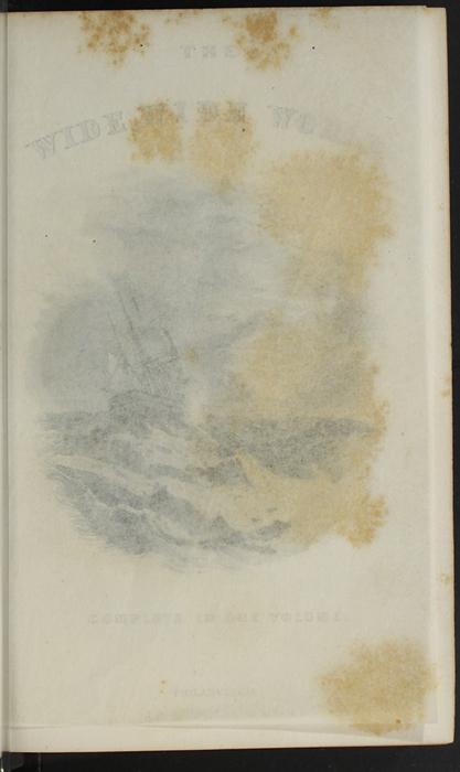 "Recto of Tissue Preceding Title Page Vignette of the 1891 J. B. Lippincott Co. ""New Edition"" Reprint"
