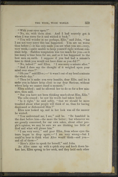 Three Hundred Fifty-Ninth Page of Text in Volume 1 of the 1851 George P. Putnam First Edition<br /><br />
