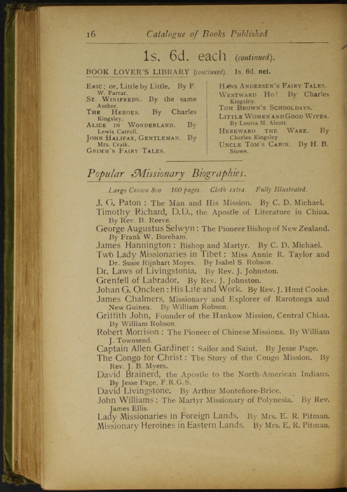 Sixteenth Page of Back Advertisements in the [1910] S. W. Partridge & Co., Ltd. Reprint