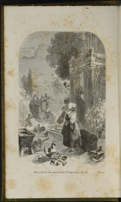 Frontispiece of the 1853 G. Routledge and Co. Reprint Depicting Ellen Arriving in Thirlwall
