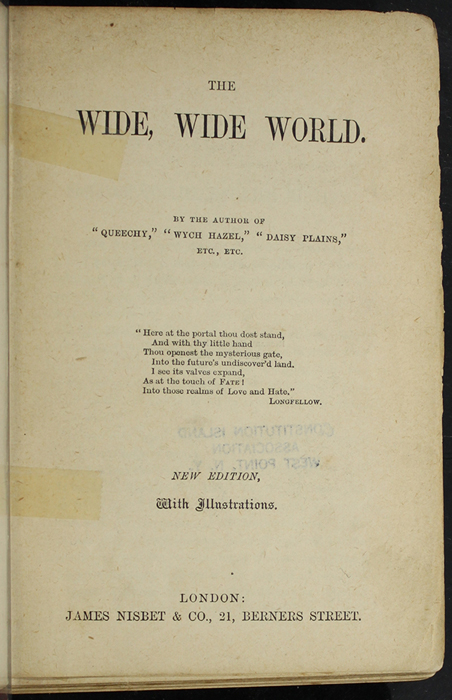 """Title Page to the [1891] James Nisbet & Co. """"New Edition"""" Reprint"""