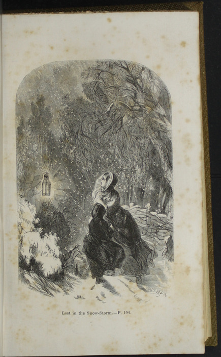 Illustration on Page 194d of the 1853 G. Routledge and Co. Reprint Depicting the Snow Storm