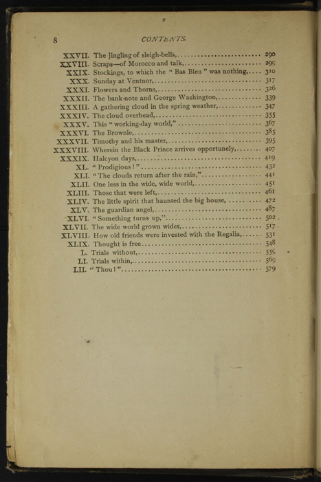 """Second Page of the Table of Contents for the [1895] William L. Allison Co. """"Allison's New Standard Library"""" Reprint"""