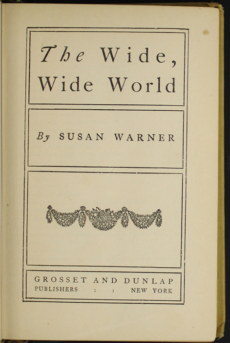 Decorative Title Page to the [1907] Grosset & Dunlap Reprint