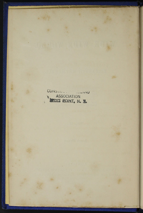 "Verso of Title Page to Volume 2 of the 1852 James Nisbet, Sampson Low, Hamilton, Adams & Co. ""Second Edition"" Reprint"