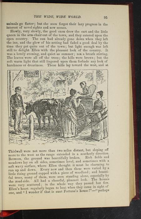 """llustrationon Page 95 of the 1903 J.B. Lippincott Co. """"New Edition"""" Reprint Depicting Ellen in the Ox Cart"""