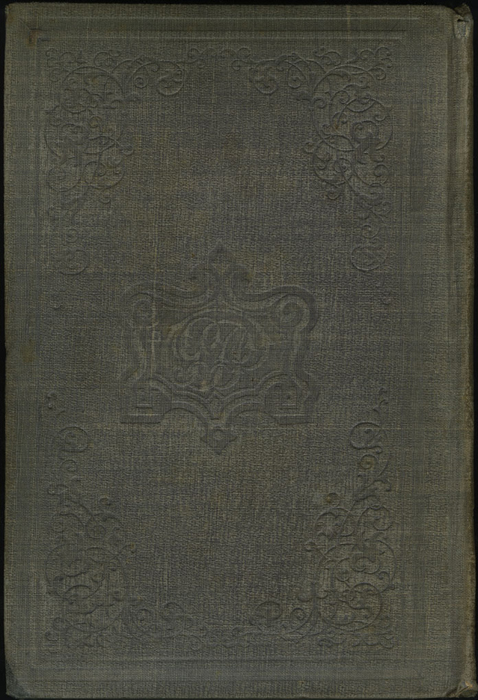 Back Cover of Volume 1 of the 1851 George P. Putnam First Edition<br /><br />