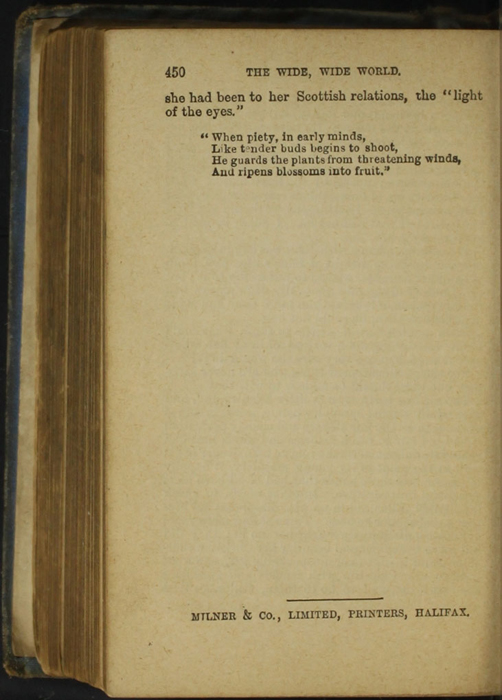 Colophon for the [1868] Milner & Co. Reprint, Version 1