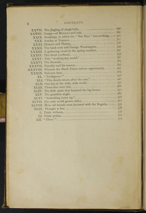 "Second Page of the Table of Contents of the [1894] William L. Allison Co. ""Allison's Standard Library"" Reprint"