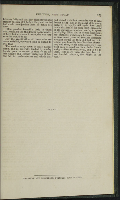 """Colophon on Last Page of Text in the 1853 Eli Charles Eginton & Co. """"Pocket Library"""" Reprint"""