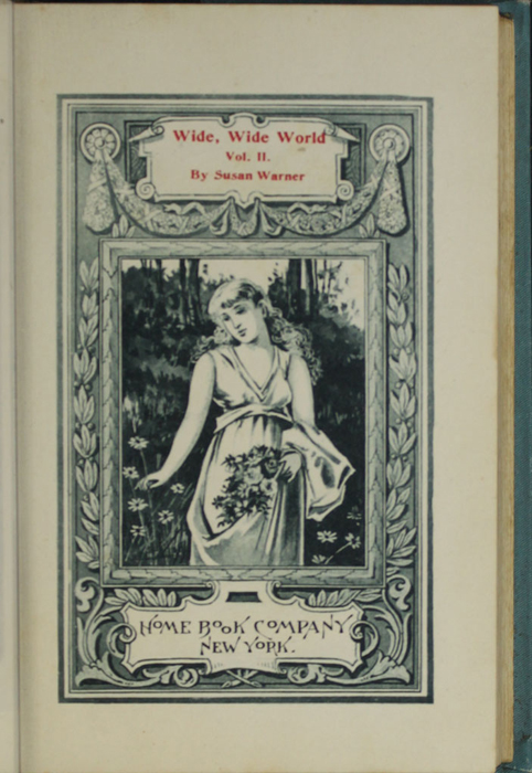 Title Page Vignette to Volume 2 of the [1902] Home Book Co. Reprint, Version 2 Depicting a Woman Gathering Flowers