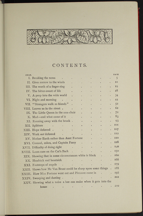 "Table of Contents of the [1896] Walter Scott, Ltd. ""Complete Ed."" Reprint"