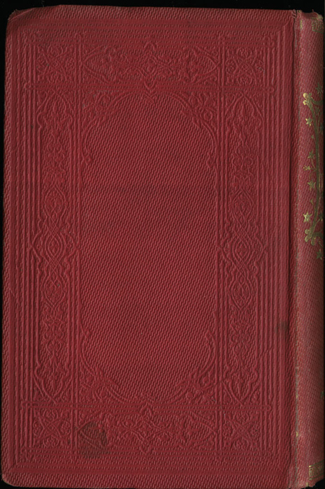 Back Cover of the 1852 T. Nelson & Sons Reprint, Version 1