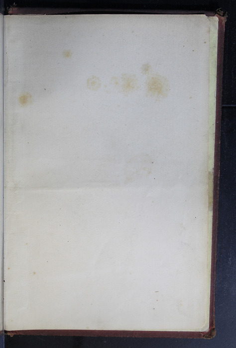 """Recto of Back Flyleaf of the 1886 James Nisbet & Co. """"New Edition"""" Reprint"""