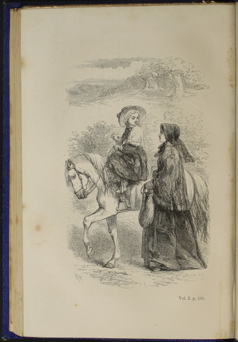 "Illustration on Page 182b of Volume 1 of the 1853 James Nisbet, Hamilton, Adams & Co. ""New Edition"" Reprint Depicting Ellen Riding Sharp"