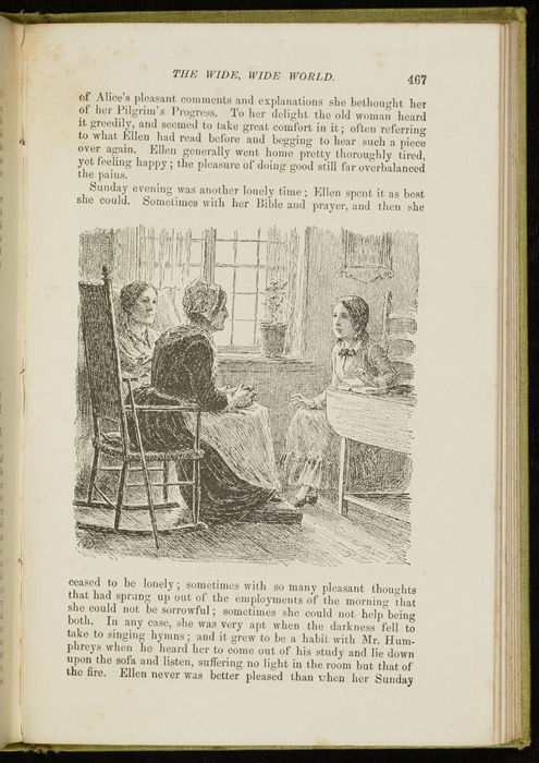 Illustration on Page 467 of the 1896 Hodder and Stoughton Reprint Depicting Ellen Reading to Mrs. Blockson