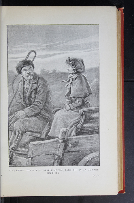 "Illustration on Page 72a of the [1896] S. W. Partridge & Co. ""Marigold Series"" Reprint Depicting Ellen in the Ox Cart"
