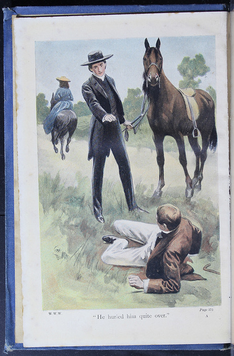 "Frontispiece to the [1910] Collins' Clear-Type Press ""The Challenge Series"" Reprint Depicting the Horse Whipping"