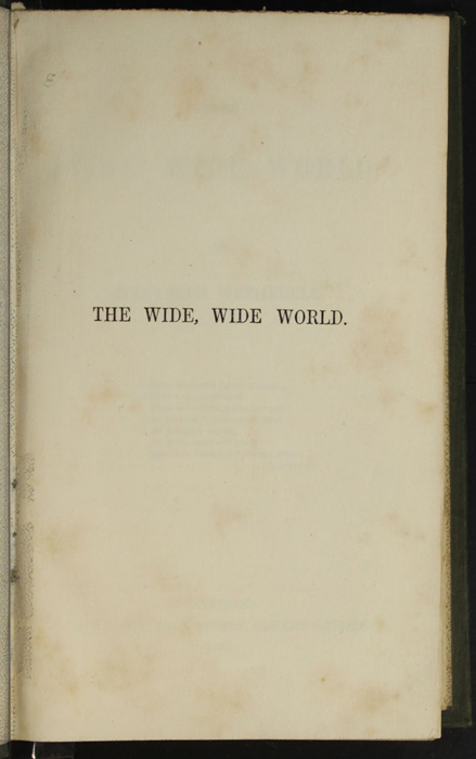 """Half Title Page to the 1853 H. G. Bohn """"Standard Library"""" Reprint"""
