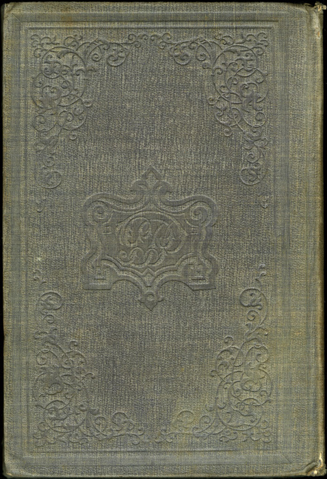 Back Cover of Volume 2 of the 1851 George P. Putnam First Edition<br /><br />