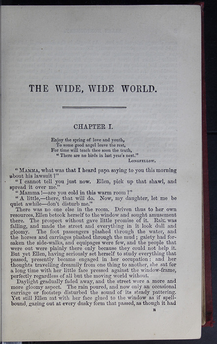First Page of Text in the 1889 G. Bell Reprint