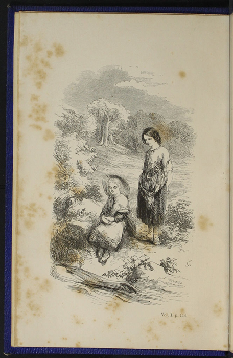 "Frontispiece to Volume 1 of the 1853 James Nisbet, Hamilton, Adams & Co. ""New Edition"" Reprint Depicting Ellen and Nancy at the Brook"