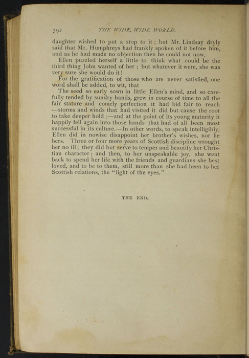"Last Page of Text in the [1894] William L. Allison Co. ""Allison's Standard Library"" Reprint"
