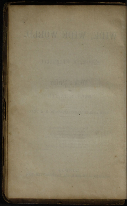 Verso of Title Page to the [1853] Clarke, Beeton, & Co. Reprint, Version 1