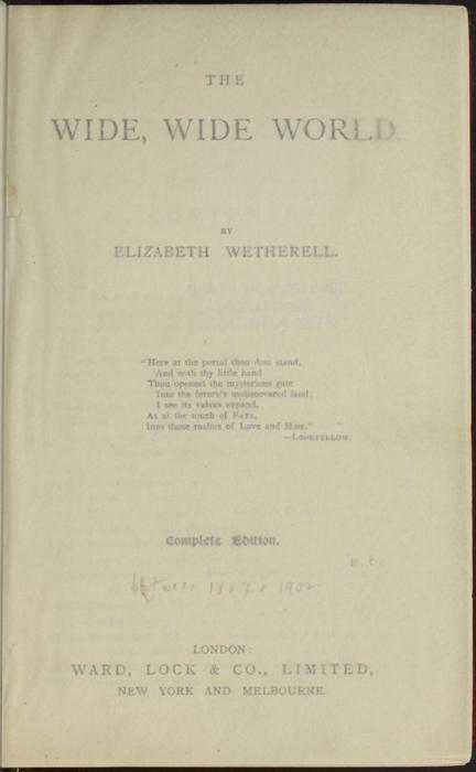 "Recto of Tissue Preceding Title Page of the [1902] Ward, Lock, & Co., Ltd. ""Complete Edition"" Reprint"