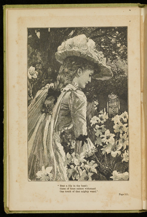 Frontispiece to the 1896 Hodder and Stoughton Reprint Depicting Ellen Among the Lilies
