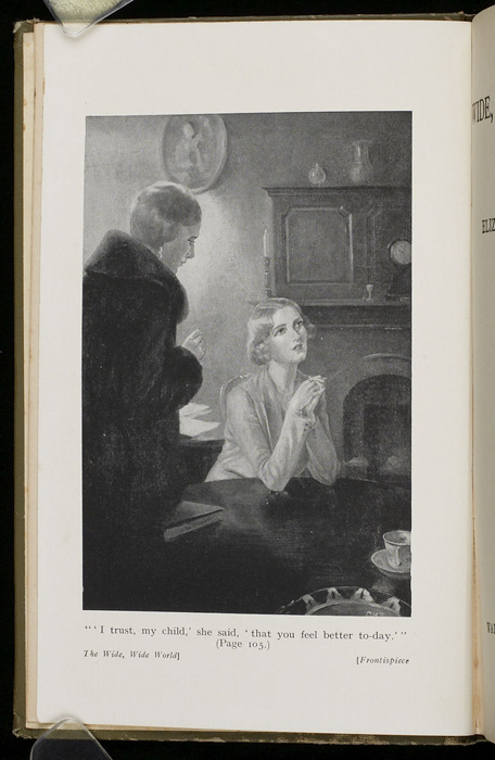 Frontispiece of the [1933] Ward, Lock, & Co., Ltd., Reprint,  Depicting Ellen and Alice