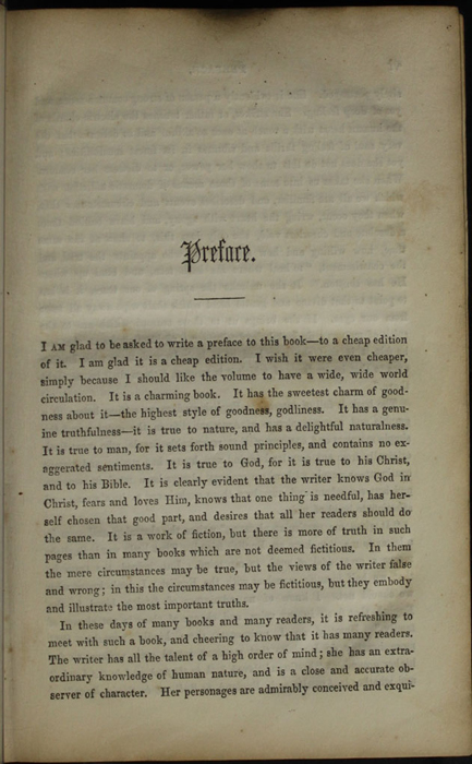 First Page of the Preface to the [1853] Clarke, Beeton, & Co. Reprint, Version 1