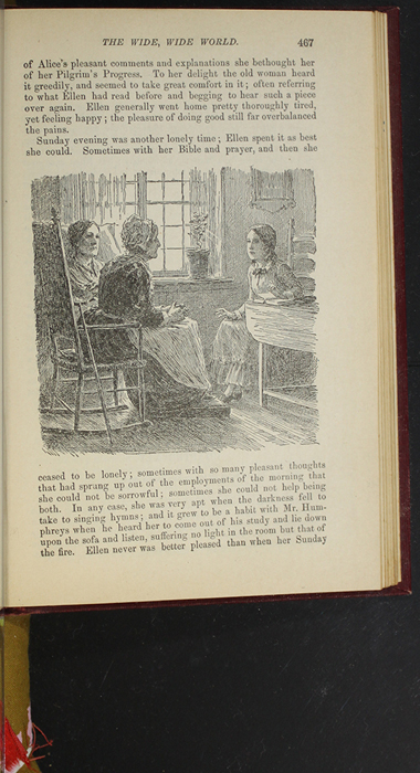 """Illustration on Page 467 of the 1903 J.B. Lippincott Co. """"New Edition"""" Reprint Depicting Ellen Reading to Mrs. Blockson"""