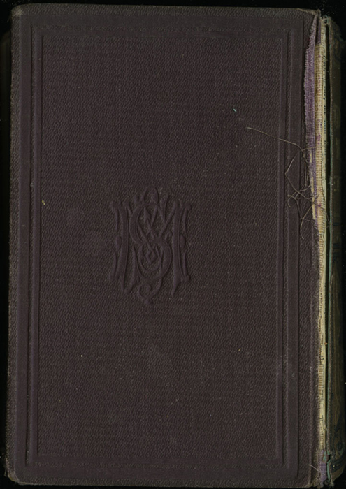 """Back Cover of the [1867] Milner & Sowerby """"The Wide, Wide World Library"""" Reprint"""