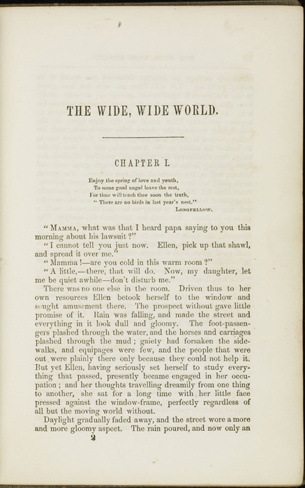 Ninth Page of Text in Volume 1 of the 1851 George P. Putnam First Edition<br /><br />
