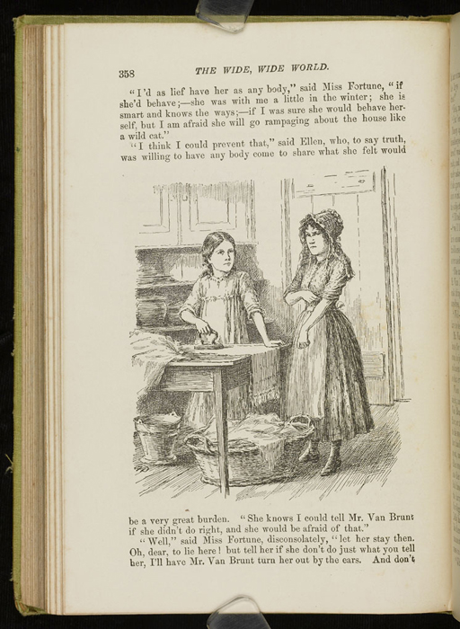 Illustration on Page 358 of the 1896 Hodder and Stoughton Reprint Depicting Ellen and Nancy
