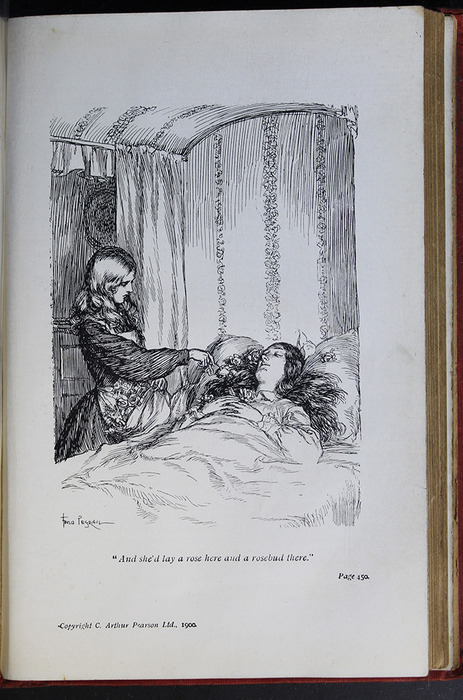 Illustration on Page 450a of the [1908] Seeley & Co. Ltd. Reprint Depicting Ellen Standing at Alice's Deathbed