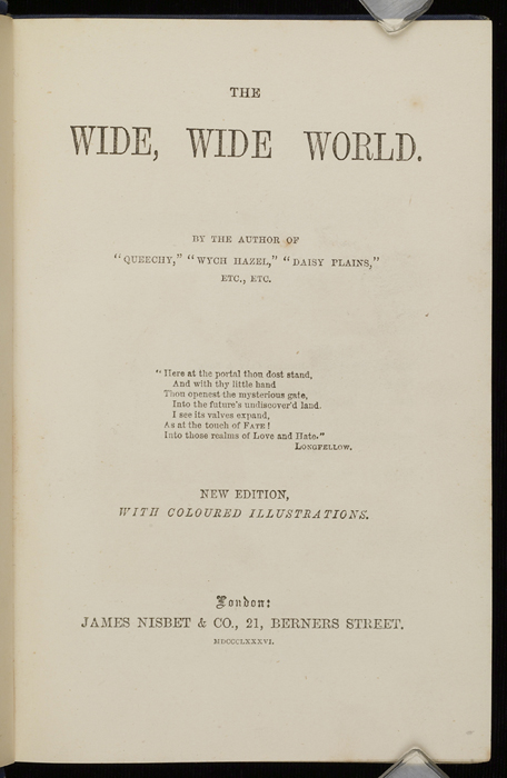 "Title Page to the 1886 James Nisbet & Co. ""Golden Ladder Series, New Edition"" Reprint"